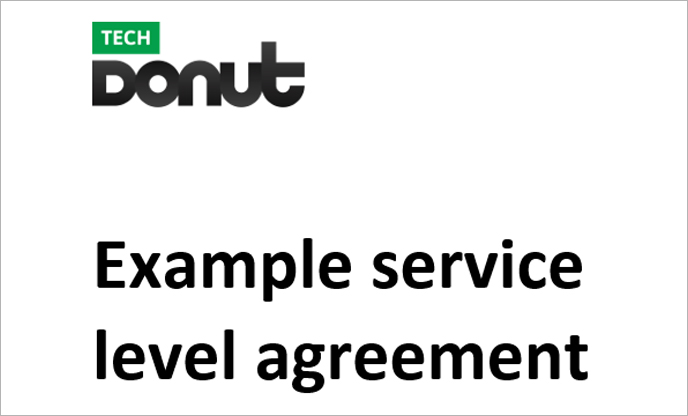 Sample Service Level Agreement  Marketing Donut
